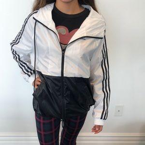Adidas white and black zip up. Brand new
